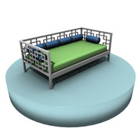 3d daybed geometric bed