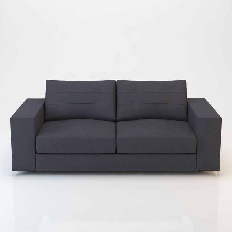barcelona sofa 190x97 3ds