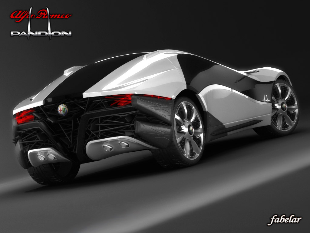 3d alfa romeo pandion concept car model