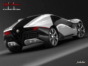 3d alfa romeo pandion concept car model