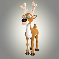 3d model of cool deer