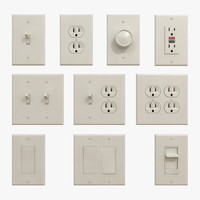 switches outlets 3d obj