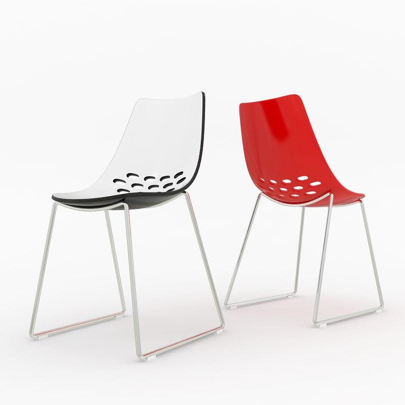 calligaris jam chair 3d 3ds