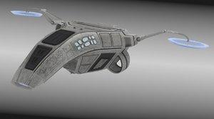 w s p scoutship 3d model