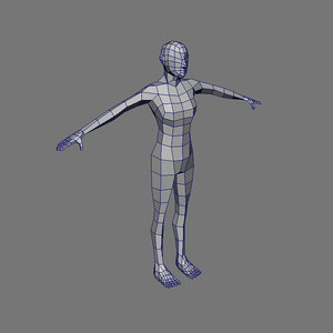 female base mesh character 3d obj