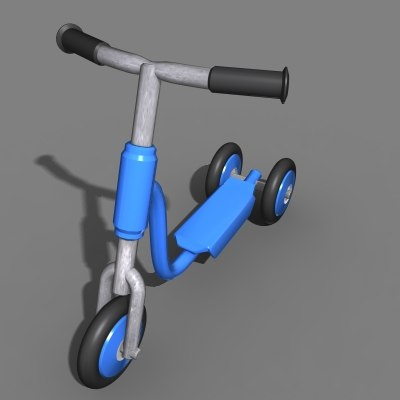 childs scooter 3d model