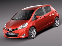 toyota yaris 2012 5-door 3d max