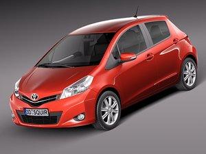 toyota yaris 2012 5-door 3d max