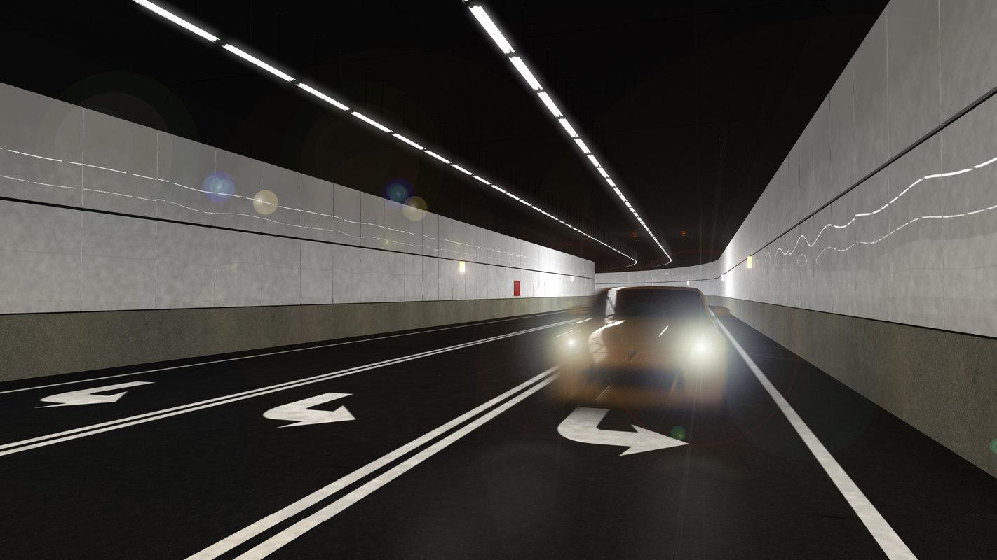 underground tunnel 3d ma