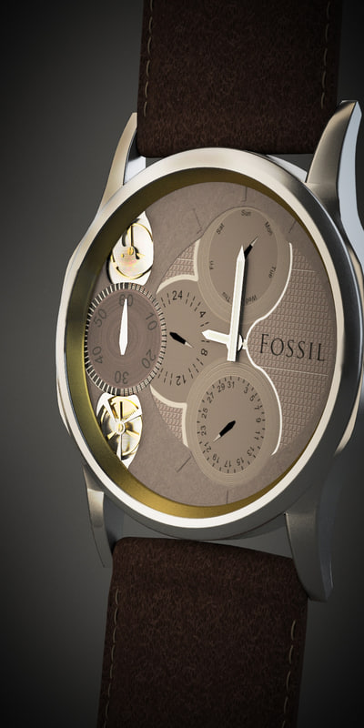 3d model watch fossil