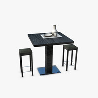 3d model of table stools