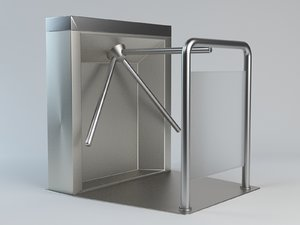 3d turnstile gate barrier