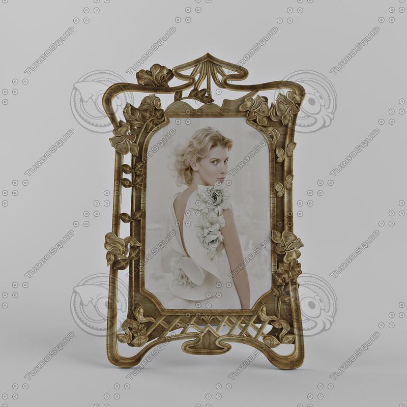 3d classic photo frame model