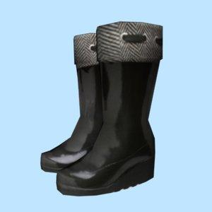 3d model woman boots