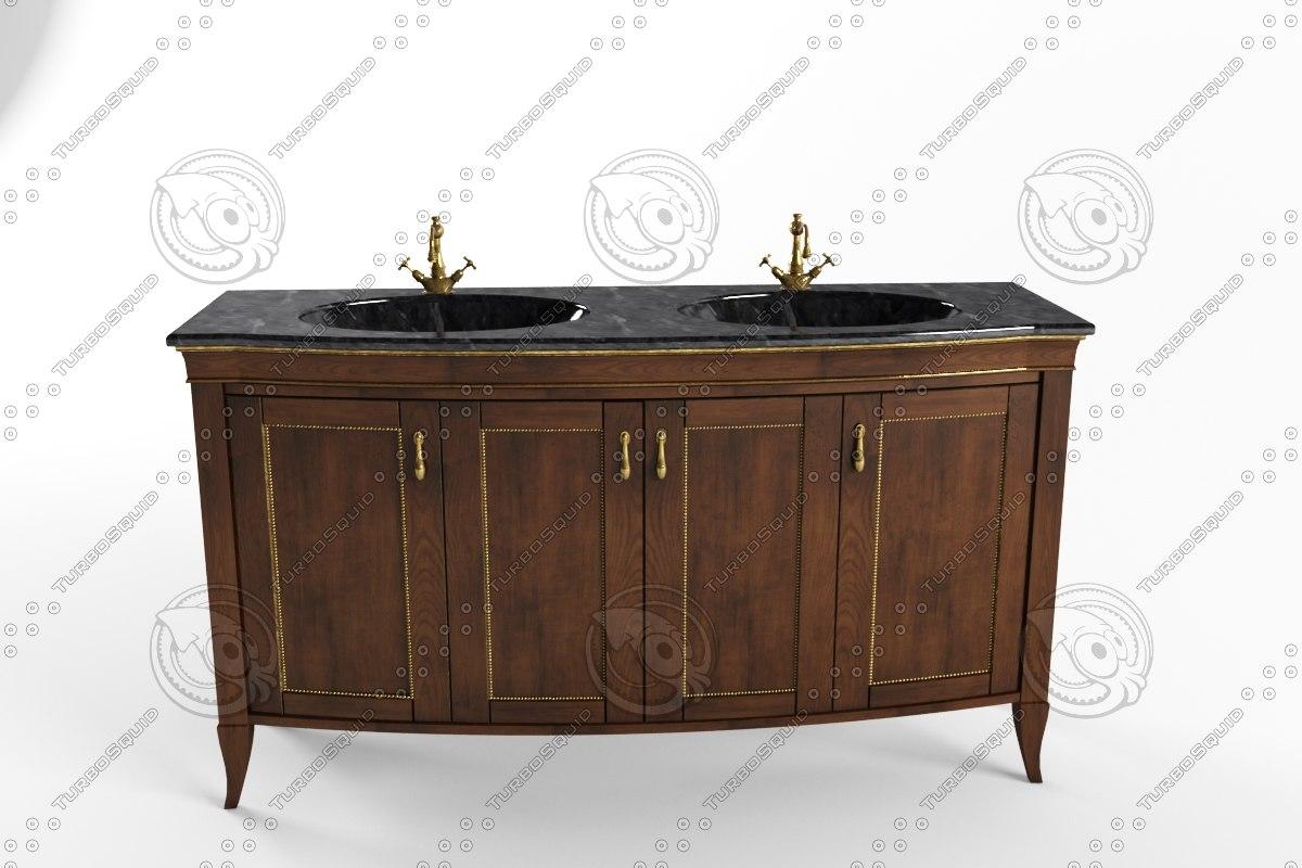 cabinet sink 3d model