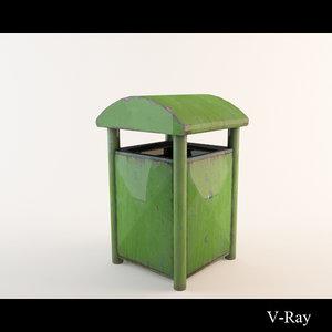maya trashcan garbage