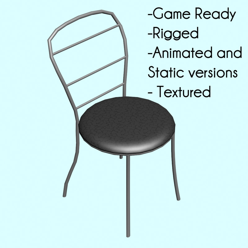 free ready static chair animation 3d model
