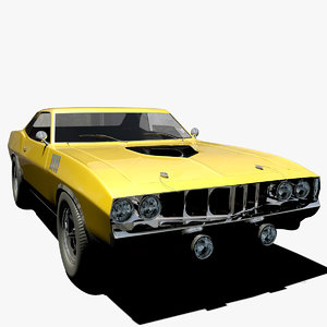 3d model plymouth barracuda cuda