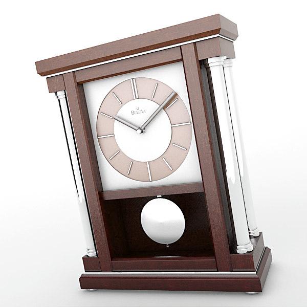 3d analog mantel clock