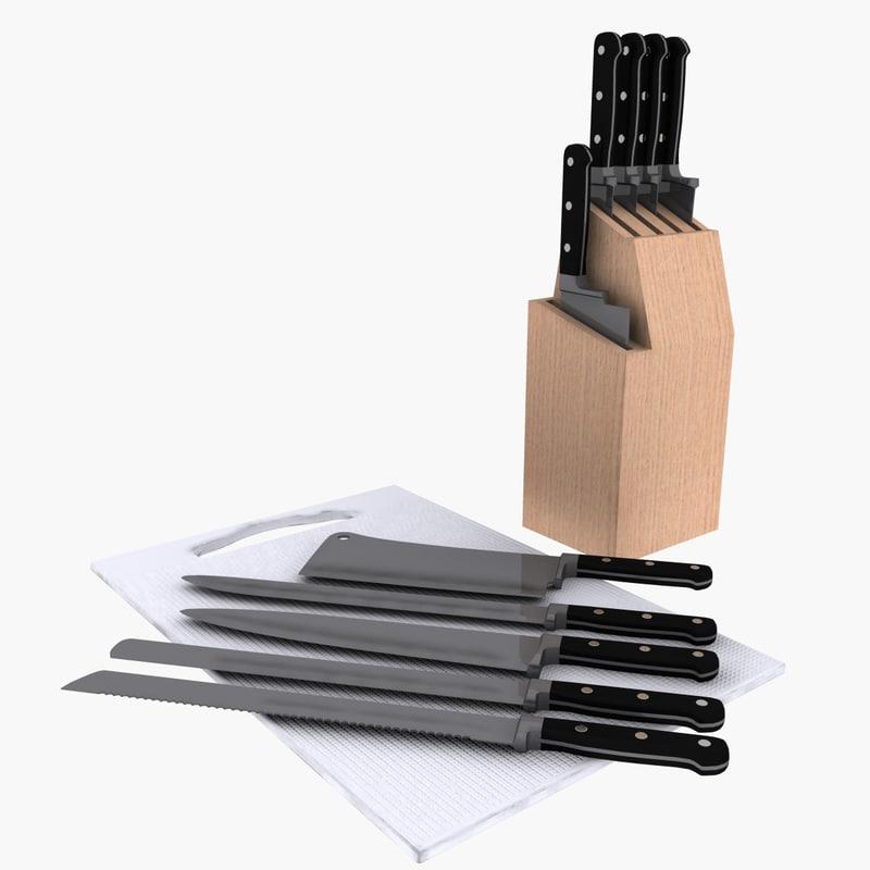 knives knife 3d model