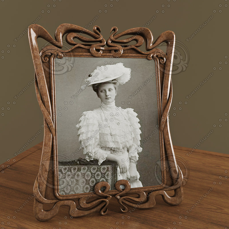 3d model photo frame art