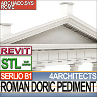3d modules roman doric pediment model