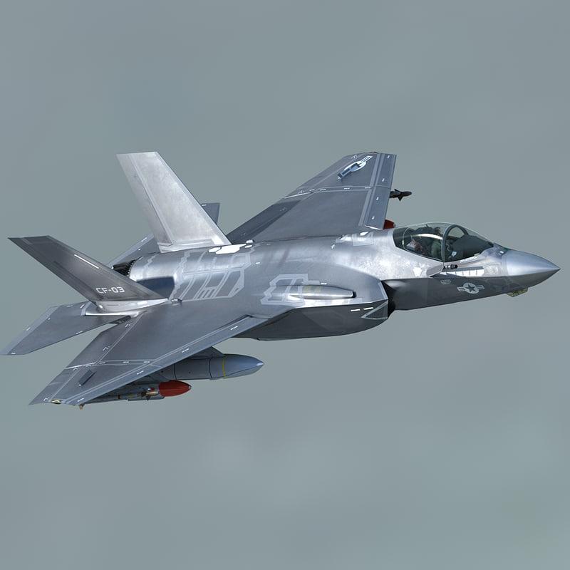 f-35 cf-3 pilot 3d max