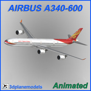 3d model of airbus a340-600
