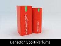 benetton sport perfume 3d model
