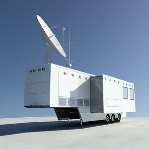 broadcasting trailer truck 3d max