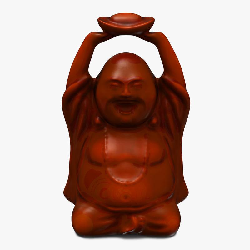 buddha statuette v2 3d 3ds