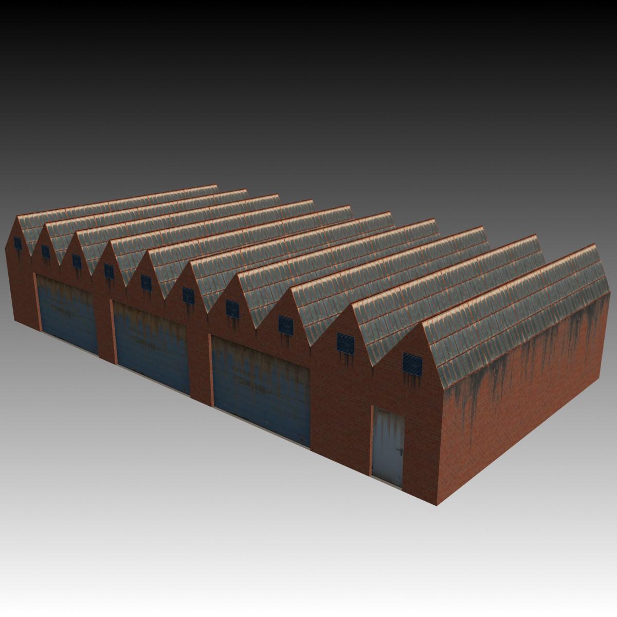 3d model of factory building 2
