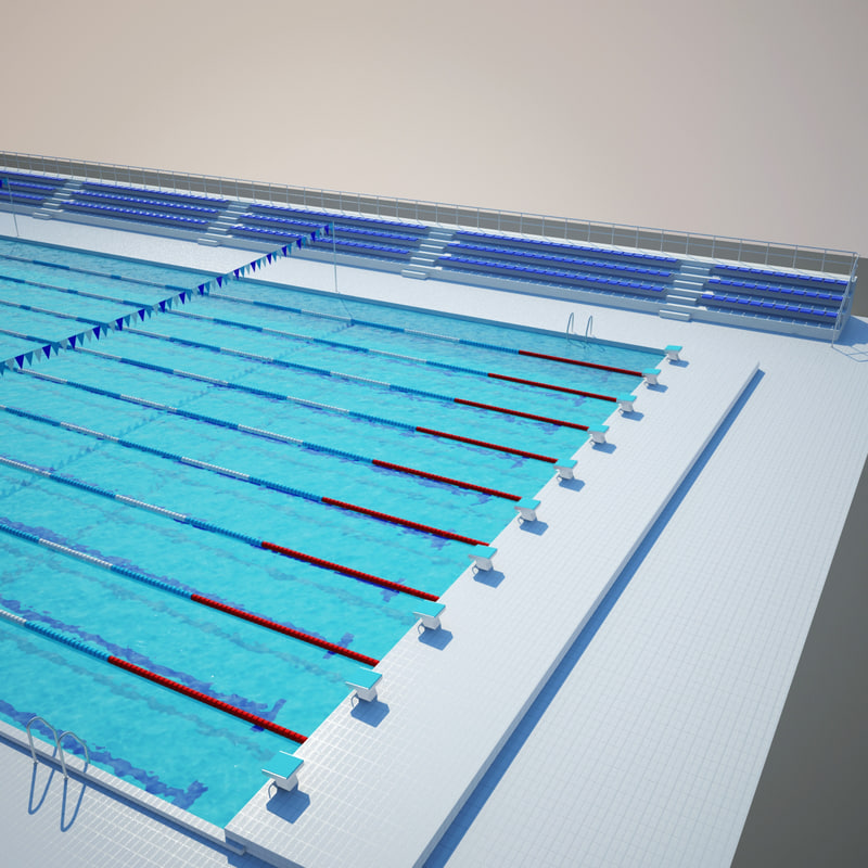Olympic Swimming Pool Diagram pool 3d max