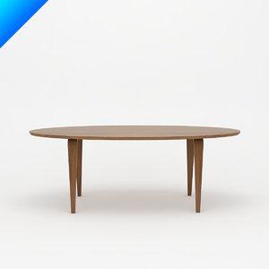 3d cherner table - oval model