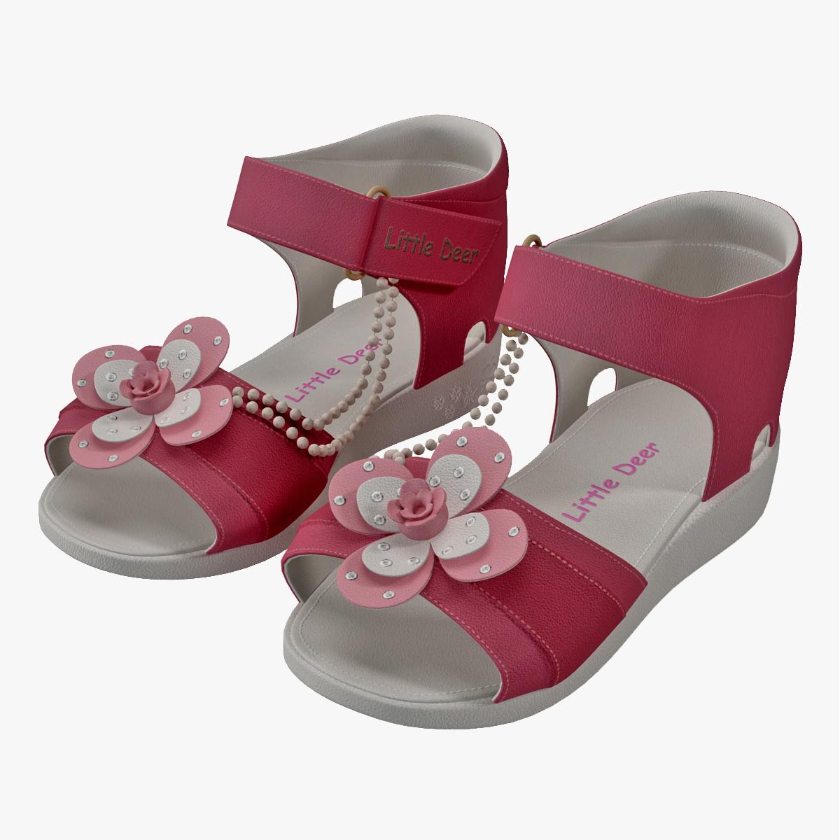 3ds max children sandal v3