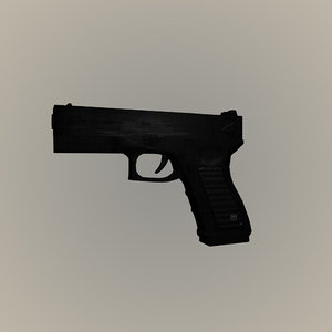 glock weapon 3d obj