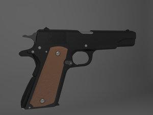 3d model colt m1911 pistol