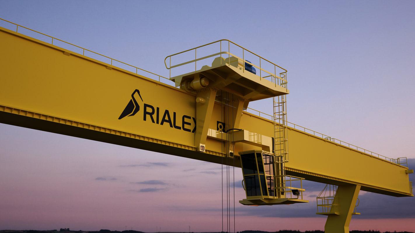 3d model crane coal