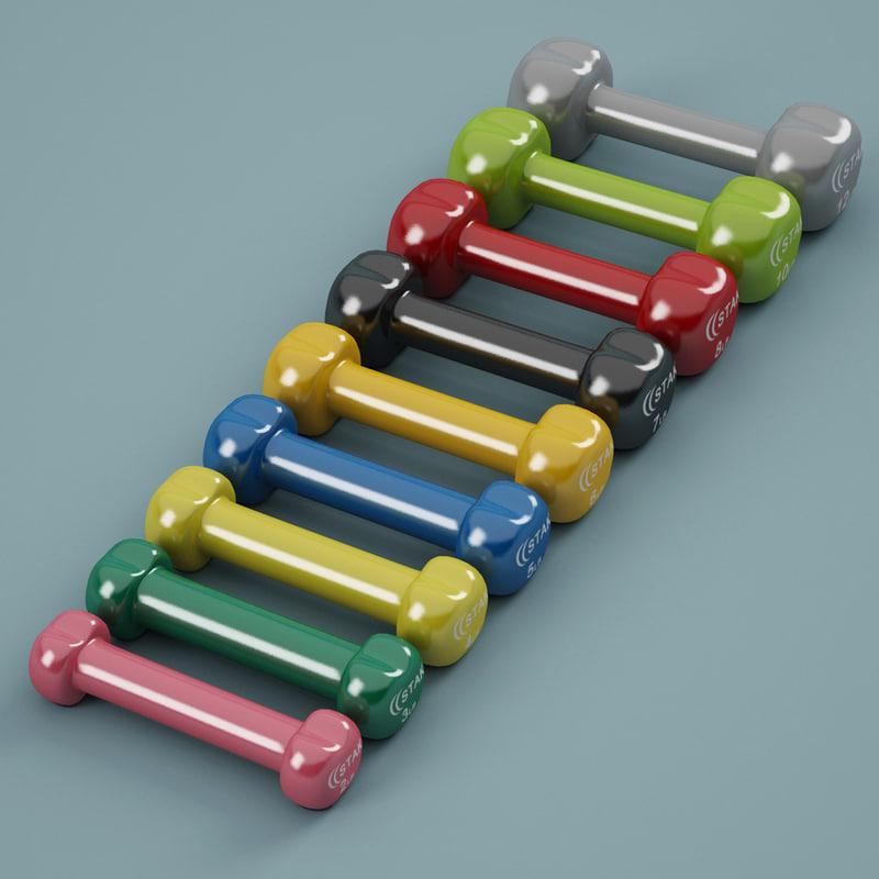 3d dumbbell stak model