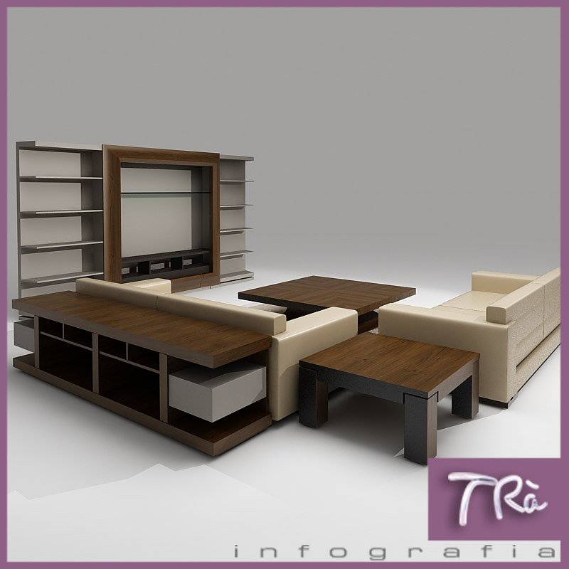 3d sofa area interior