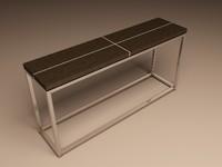 eichholtz table console magnum 3d model