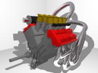 engine ariel atom v12 3d model