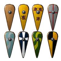 3d model kite shield