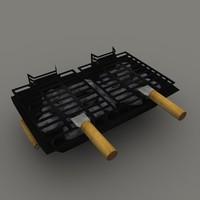 hibachi bbq 3d model