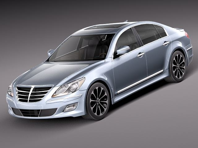 hyundai genesis sedan 2012 3d 3ds