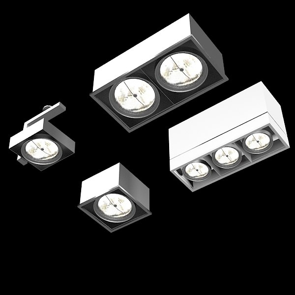 Hanging Ceiling Light 3d Autocad Model: Ceiling Spot Light 3d Model