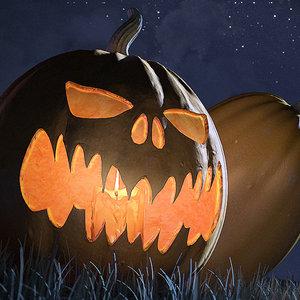 3ds max jack o lantern pumpkin