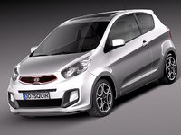 3d lwo kia picanto 2013 city car