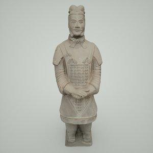 terracotta warrior army 3d model