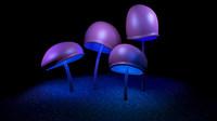 3d mushroom shroom model